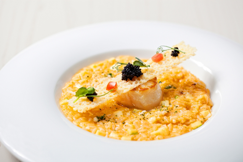 寒舍艾麗La Farfalla-干貝海膽燉飯
